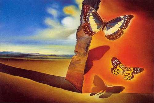 Landscapes with Butterflies, Salvador Dali