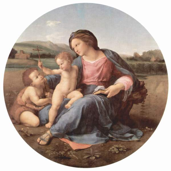 Alba Madonna, Mary, Jesus and John, Raphael, 1521 (Renaissance Art)