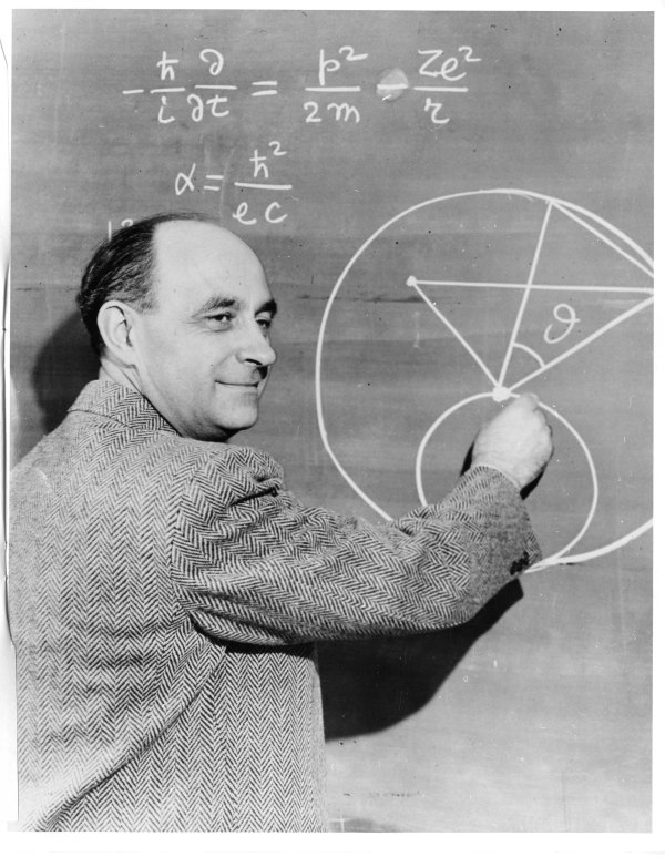 Enrico Fermi: Out There on the Blackboard