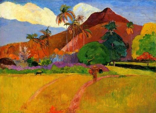 Mountains in Tahiti, Paul Gauguin