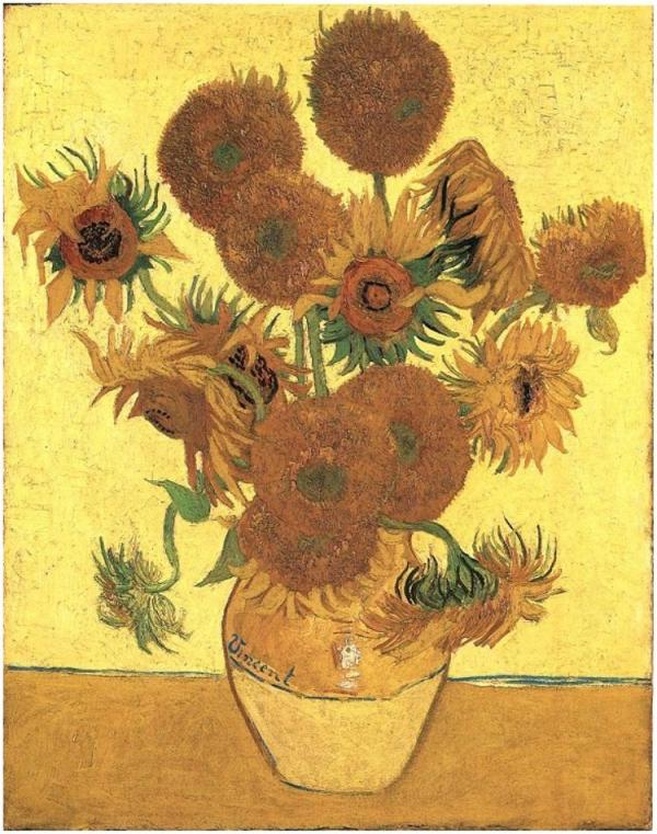 Still Life- Vase with 15 Sunflowers/Vincent Van Gogh