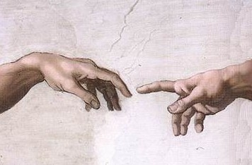 Hand of God Giving Life to Adam, Creation of Adam, Michelangelo, Sistine Chapel
