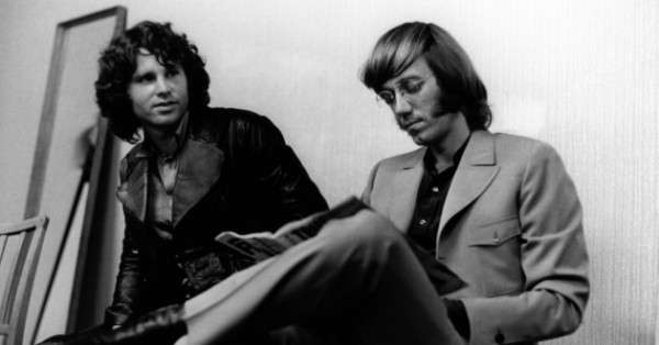 Ray-Manzarek and Jim Morrison circa 1968