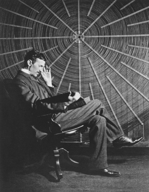 Nikola-Tesla The Man Engrossed within His Elements