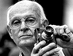 Henri Cartier-Bresson and his 35 mm Leica Camera