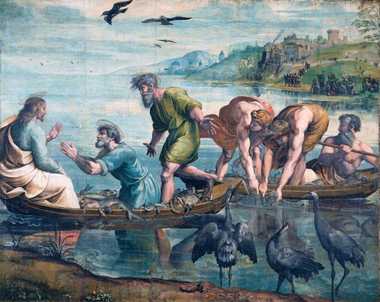 The Miraculous Draught of Fishes by Raphael circa 1515-16/High Renaissance/ Victoria Albert Museum London