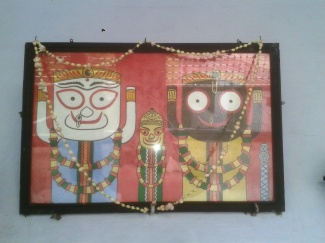 Lord Jagannatha Picture at Yogishwar's house in Varanasi