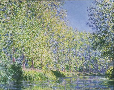 Bend in the Epte River near Giverny by Claude Monet circa. 1888 French Impressionism