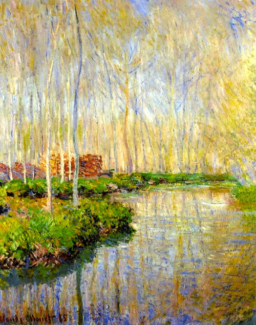 The River Epte, 1885 Oil on Canvas, Private Collection by Claude Monet French Impressionism