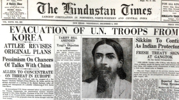 The Hindustan Times Coverage of Sri Aurobindo